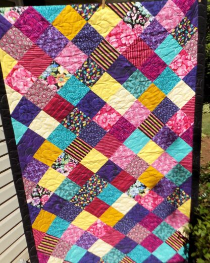 51 x 80 Squares on Point Quilt